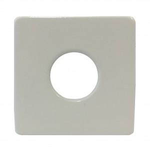 Розетка Schlosser для санитарной арматуры, квадратная белая 606000070