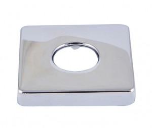Розетка Schlosser для санитарной арматуры, квадратная хром 606000071